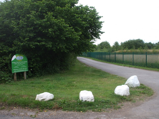 Entrance to Cefn Mably Lakes