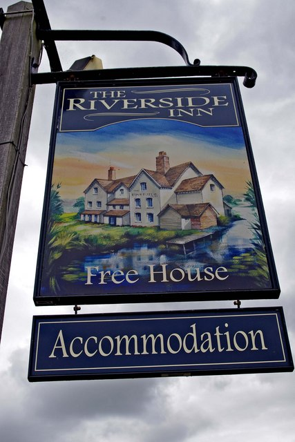 The Riverside Inn (pub sign)