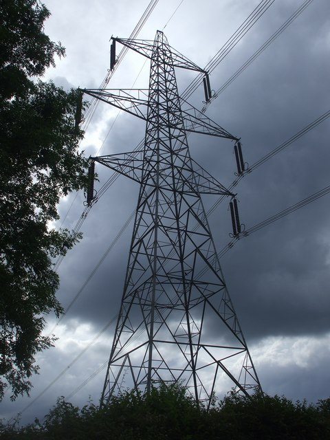 Transmission tower, near Cefn-llwyd Farm