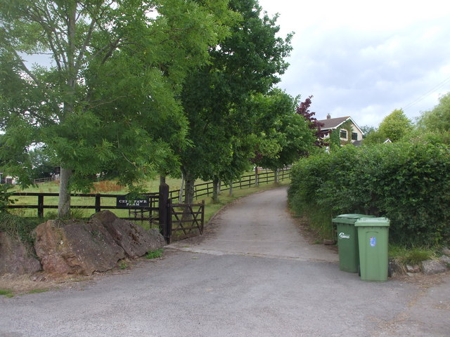 Cefn Fawr Farm entrance