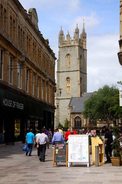 Trinity Street in Cardiff