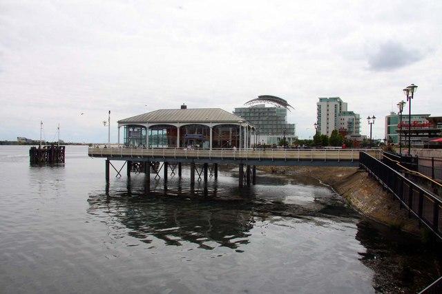 A pier at Mermaid Quay