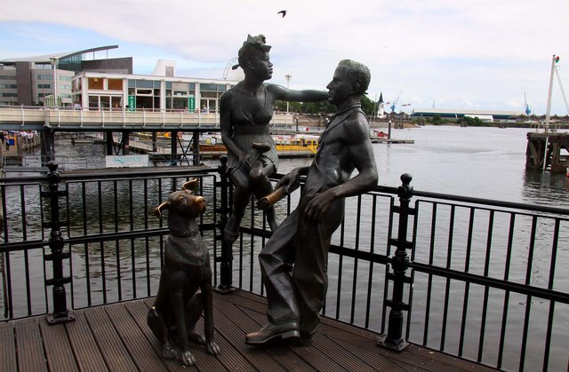 Sculptures on Mermaid Quay