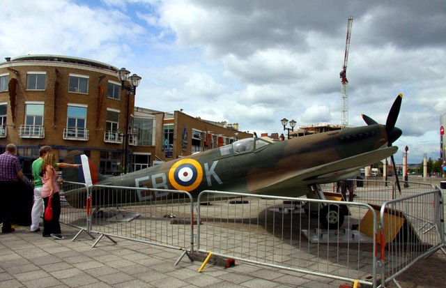 Spitfire in Cardiff Bay