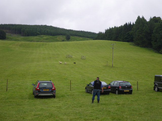 Morning preparation for the sheepdog trials