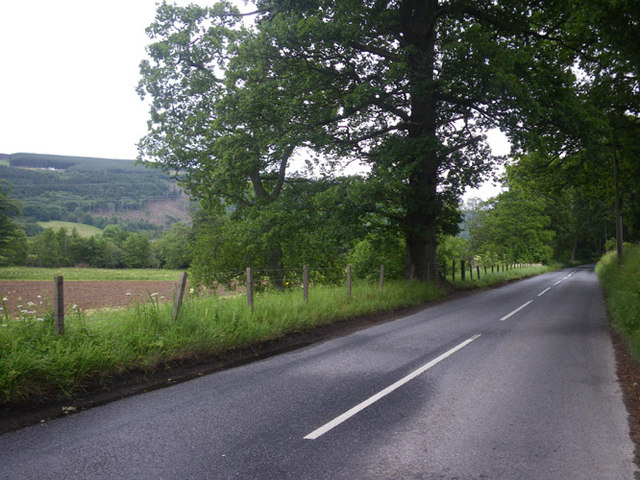 Along the A827 and lands north