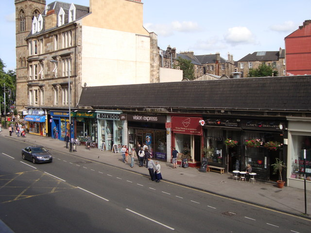 Shops at the north end of Byres Road