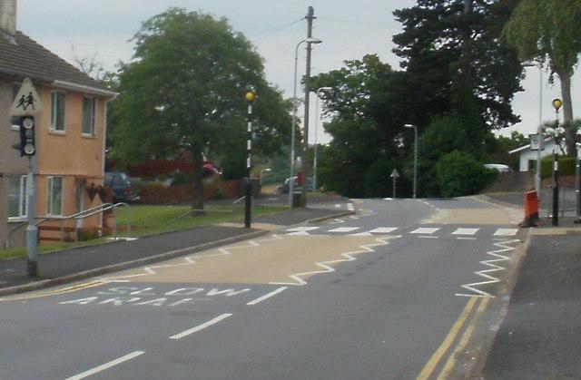 New zebra crossing, Pillmawr Road, Malpas, Newport