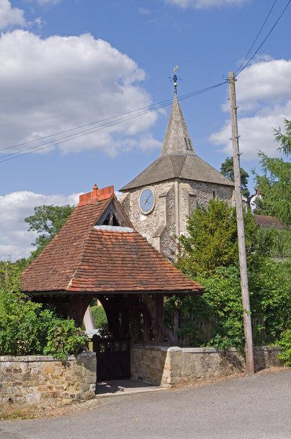 Lychgate, St Michael's Church, Mickleham