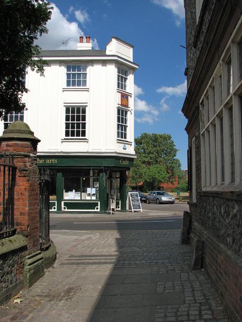 St Clement's Alley meets Fye Street, Norwich