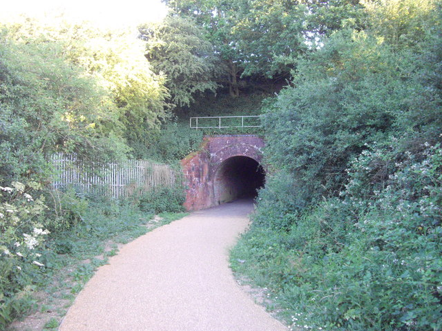 Railway bridge over footpath in Highwoods Country Park