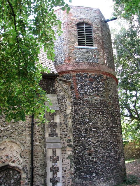 St Etheldreda's church in King Street, Norwich - the round tower