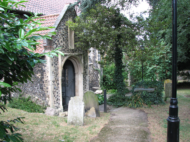 Footpath past St Etheldreda's church, Norwich