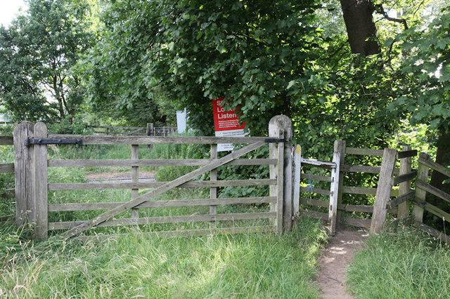 Crossing over the Wensleydale Railway Line