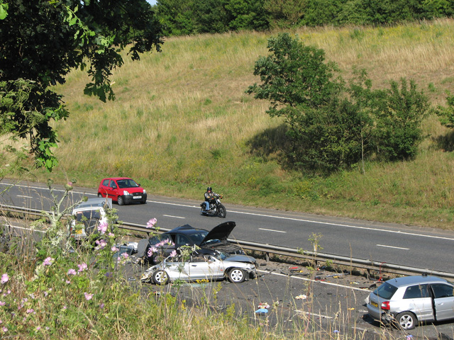 Accident on the A47 road