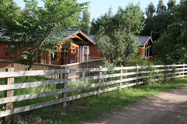 Holiday lodges overlooking the golf course
