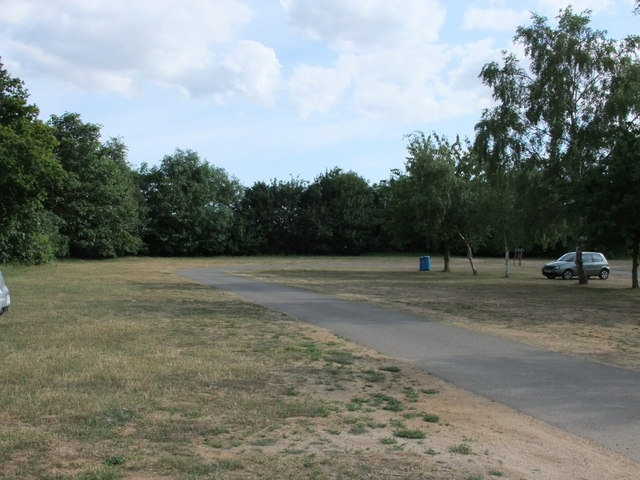 Car park at Alton Water Visitor Centre