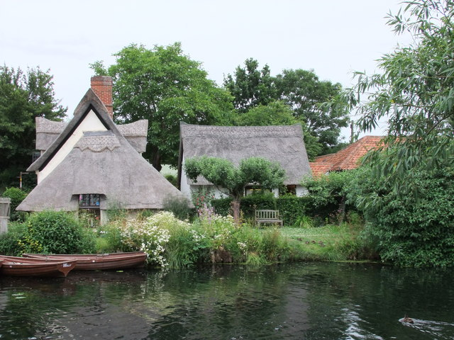Thatched Cottages at Flatford