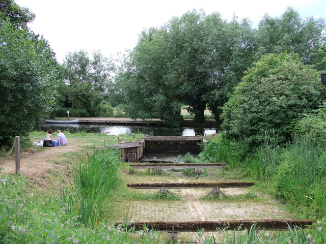 Dry dock by the River Stour at Flatford