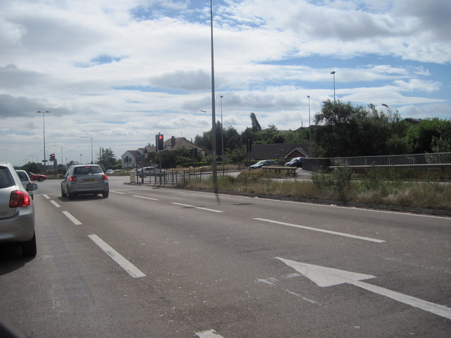 Junction on A5 north of Brownhills looking east
