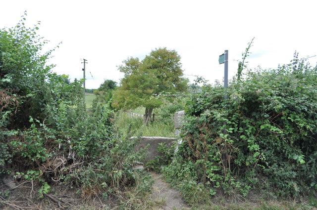 Stile and public footpath, Sedbury Lane