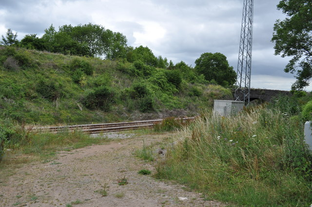 Site of Sedbury branch line junction, closed 1920.