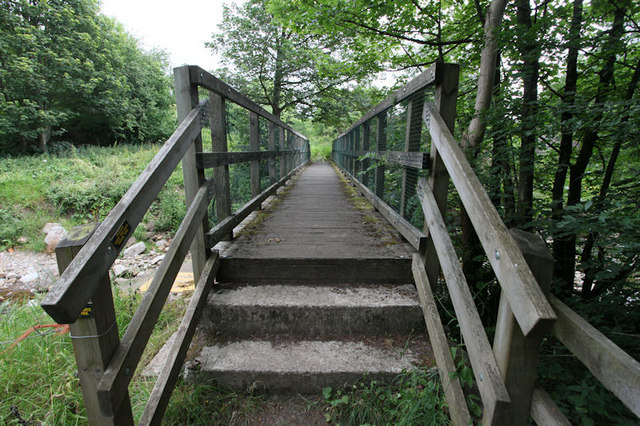 Footbridge over Apedale Beck