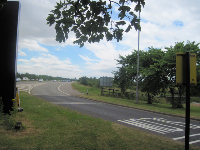 Entry slip road to Woodall services northbound