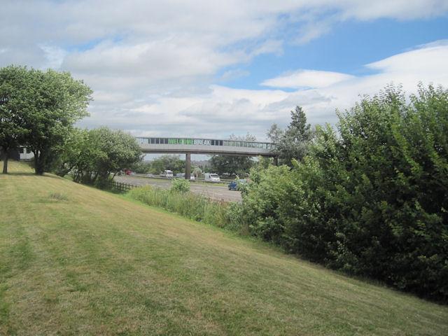 Motorway footbridge at Woodall