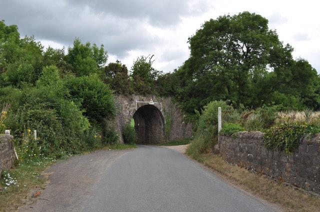 Wye Valley Railway bridge from Snipehill bridge