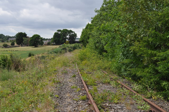 Tracks remaining from the former Wye Valley Railway