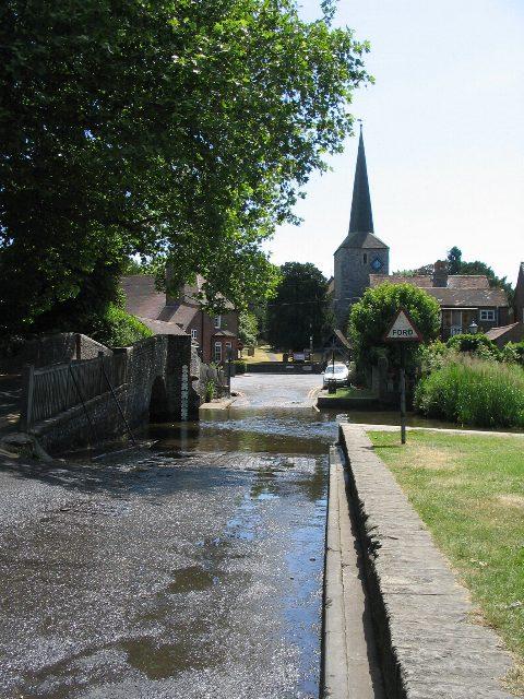 Eynsford ford and church