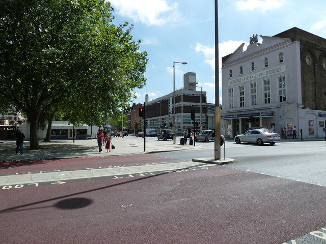 Looking from Waterloo Road towards The Old Vic