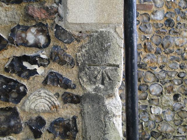Bench Mark on St Julian's Church, Norwich