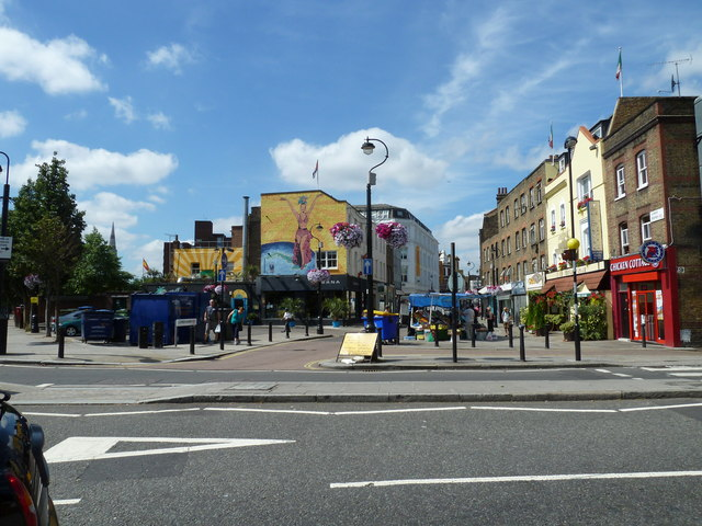 Looking from Baylis Road towards Lower Marsh