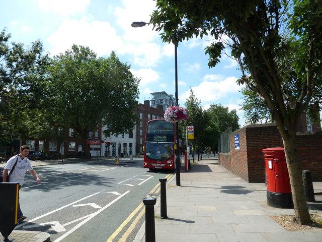 Tottenham bound bus in Baylis Road