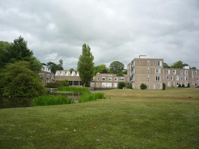 Derwent College across the lake