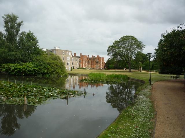 Heslington Hall across the lake