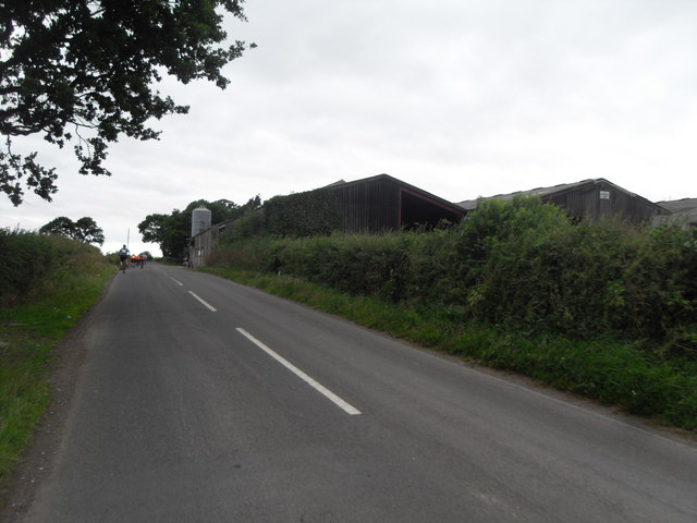 Approaching a Farm Treales Road