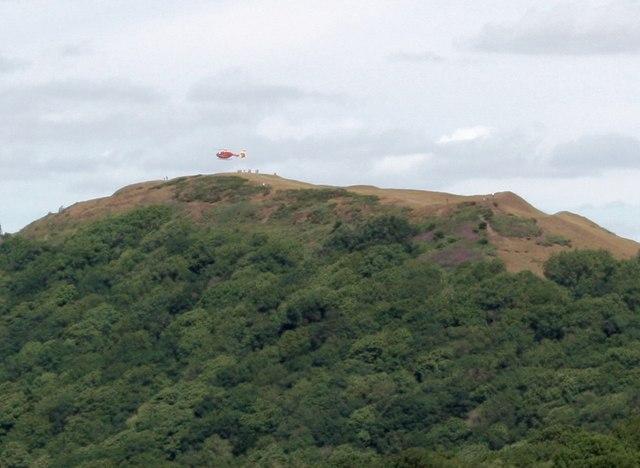 Air Ambulance landing on Millennium Hill