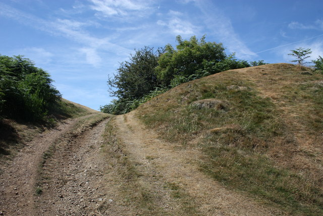 Northern entrance, Midsummer Hill Iron-Age camp