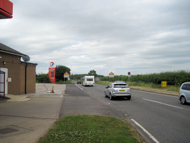 Looking north up the A15 from Caenby Corner