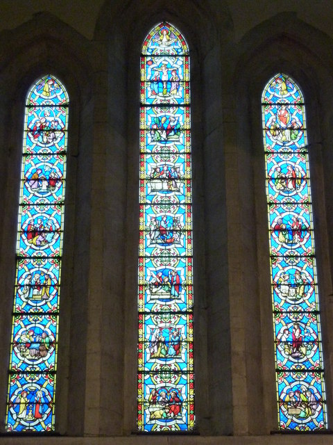 The east window of the church of St. Mary Magdalene, Davington