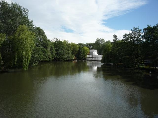 Wentworth bridge under repair