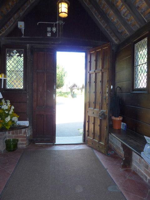 The church porch, St. Mary Magdalene church, Davington