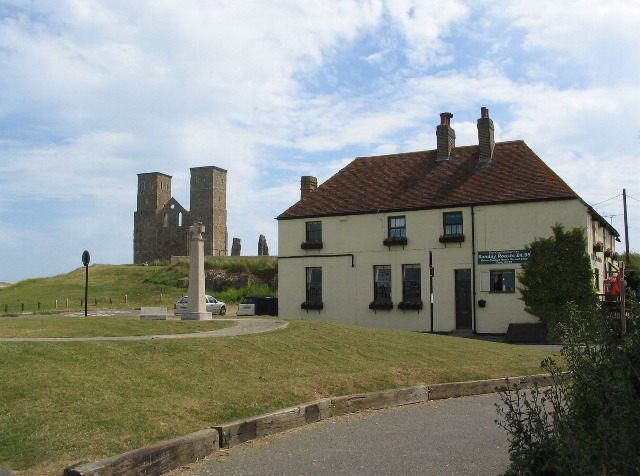 King Ethelbert Inn and Reculver towers