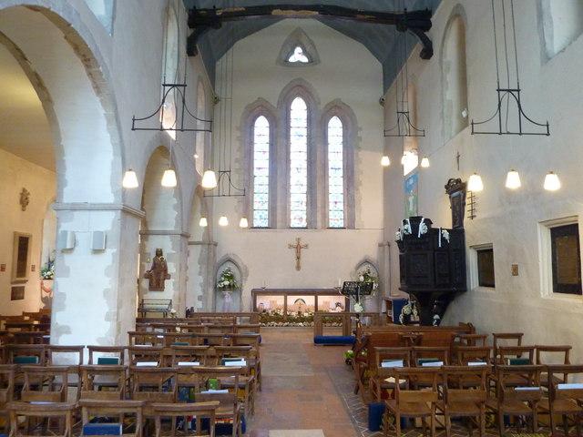 The nave, the church of St. Mary Magdalene, Davington