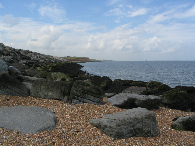 Sea defences by Reculver