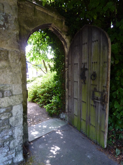 Door on the west side of the church of St. Mary Magdalene, Davington