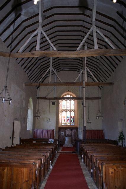 Interior of St Mary's Church, Belchamp Walter